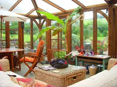 the Conservatory at Deane Thatch holiday cottage South Devon