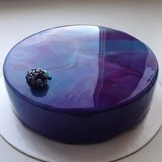 Glossy marble cake by Marble Cake, Glossier Cake, Beautiful Cakes, Amazing Cakes, Cake Cookies, Cupcake Cakes, Galaxy Cake, Mirror Glaze Cake, Mirror Cakes