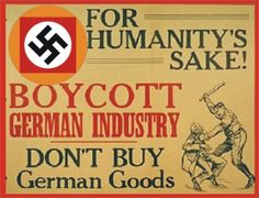 Poster (issued by the Jewish War Veterans of the United States) calling for a boycott of German goods. New York, United States, between 1937 and Holocaust Survivors, German, United States, War, This Or That Questions, Web Address, Greece, Nova, Forget
