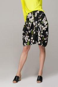 Culotte floral skirt with bright top....love it!