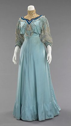 Afternoon dress, House of Paquin, 1906-08, French, silk