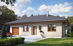 Galia to przytulny dom - zbudujesz go w cenie maleńkiego mieszkania Rose Garden Design, Rio 2, Gazebo, Pergola, Pool Houses, Exterior Design, Bungalow, Tiny House, House Plans