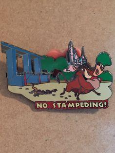 Disney Safety Rules No Stampeding Timon & Pumbaa Pin