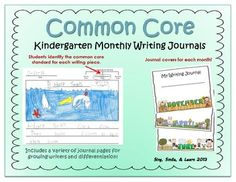 Common Core Kindergarten Writing Journals that help Kindergartners improve on writing. They start from having no lines with picture all the way up to five lines. Kindergarten Writing Journals, Kindergarten Anchor Charts, Kindergarten Language Arts, 1st Grade Writing, Kindergarten Rocks, Kindergarten Classroom, Teaching Phonics, Teaching Writing, Writing Activities