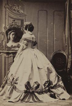 """""""[Madame Camille Silvy],"""" Camille Silvy about 1863.   #Bows"""