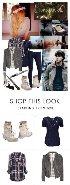 """""""Hunters Stick Together"""" by glassheartsbreaking-22 ❤ liked on Polyvore featuring beauty, Free People, CAFèNOIR, BKE, MiH Jeans and Revolver"""