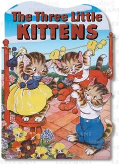 Vintage Image Shape Book - Three Little Kittens  An authentic version of the Mother Goose rhyme, beautifully illustrated. Click image to see inside and buy at www.nobleniches.com Only $9.95! Other titles available. #threelittlekittens #vintagethreelittlekittens #vintagestorybook #storybook #childrensbook #vintagechildrensbook