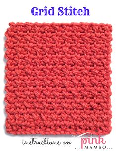 This is one of my favorite stitch patterns. It has great drape, and I've made everything from dishcloths to garments with this pattern. It is the basis for my Single Crochet Entrelac techniq...