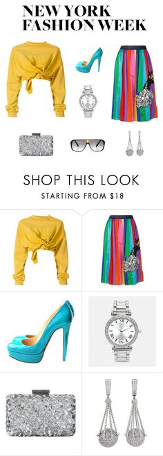 """""""NYFW"""" by edith-a-giles ❤ liked on Polyvore featuring Ottolinger, Mira Mikati, Christian Louboutin, Avenue, Oscar de la Renta, Valentin Magro and Louis Vuitton"""