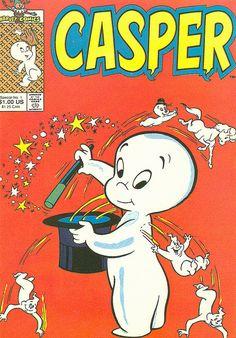 Casper the Friendly Ghost Postcard - Bücher Vintage Cartoons, Vintage Comic Books, Classic Cartoons, Vintage Comics, Funny Cartoon Pictures, Cartoon Photo, Casper The Friendly Ghost, Photo Vintage, Bd Comics