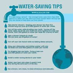 Water-Saving Tips http://www.alkalux.com