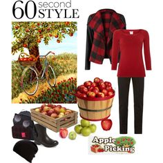 A collage from Polyvore: Autumn harvet #pickingapples