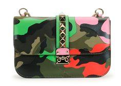 Valentino Psychedelic Camo Lock Bag