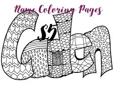 any name 5 printable name coloring pages
