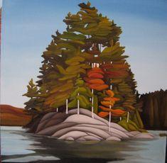 Recent Work | www.gibsonart.ca Acrylic Tips, Acrylic Art, Rainy Lake, Canadian Artists, Landscape Art, New Art, Art Projects, My Arts, Drawings