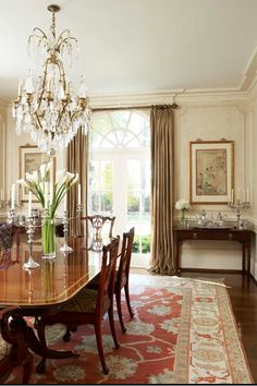 Traditional Chippendale dining room