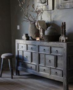 Neutral, Bohemian, Rustic, Cabinet, Storage, Furniture, Home Decor, Style, Interior Design
