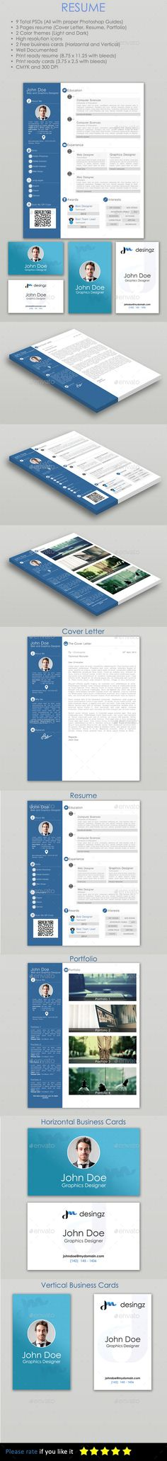 Resume PSD Template 34 best Resume