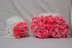 Crochet Ruffle Diaper Cover with Hat
