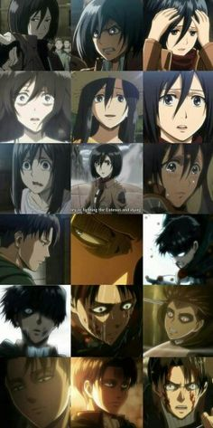 Mikasa and Levi are emotionless !....i don't think that