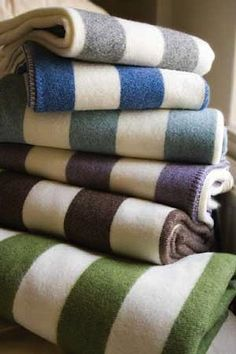 10 Easy Pieces: Winter Wool Blankets (Oooh, I love stripey winter wool blankets, but the ones in this article are way beyond my budget. Sigh.)