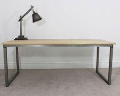 Remington Industrial Bespoke Office Desk by Russelloakandsteel