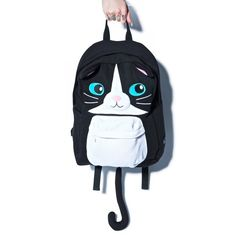 Cat Backpack ($95) ❤ liked on Polyvore featuring bags, backpacks, backpack, travel daypack, travel bag, travel rucksack, backpack bags and backpack travel bag