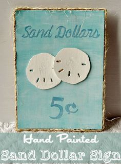 Success Along the Weigh: Hand Painted Sand Dollar Sign