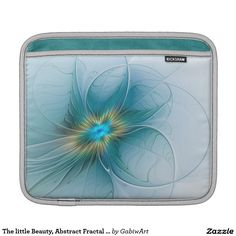 The little Beauty, Abstract Fractal Art with blue iPad Sleeve
