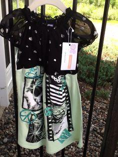Upcycled dress + Tshirt = sweet!