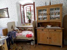 Czech Republic ,Vysočina, Skanzen - Veselý kopec Macedonia, Czech Republic, China Cabinet, Places, Furniture, Home Decor, Decoration Home, Chinese Cabinet, Room Decor