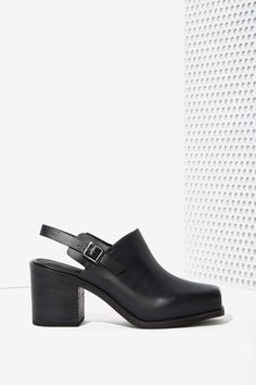 Intentionally Blank Honcho Leather Mule at Nasty Gal