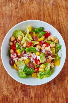 This Chopped Chickpea Salad Recipe is Hearty and Filling. Healthy chickpea recipes like this make an excellent choice for a light, quick, and easy vegetarian dinner. Perfect if you're looking for recipes and ideas for lunches to pack to take to work! An Easy way to eat your vegetables.
