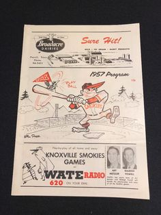 1957 Knoxville Smokies Unscored Minor League Baseball Program | eBay