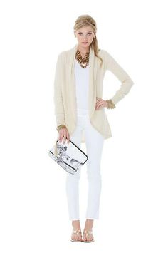 Lilly Pulitzer Resort '13- Bryn Cardigan ... Add boots for fall outfit
