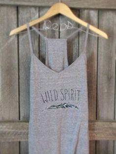 SALE- FREE SHIPPING, Hipster Style, Feather Shirt, Wild Spirit Racerback Tank Top (women, teen girl)