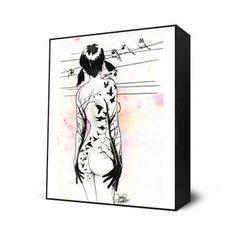 Tattoo Girl Mini Art Block, $28, now featured on Fab.
