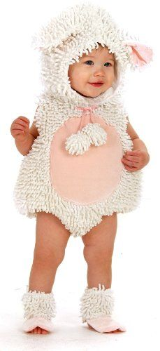 Little Lamb Infant / Toddler Costume, and make it a family costume with Mom as Little Bo Peep and Dad as a shepherd.