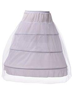 Remedios 3 Boned Hoop Full Bridal Slip Petticoat Wedding Underskirt White/Black //Price: $19.99 & FREE Shipping //     #onsale #lingeriemodel #glamourmodel #sexylingerie #beautylingerie #corset #beautygirls