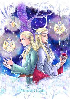 Thranduil & Legolas by https:Kaz_men (K. Gil Galad, Legolas And Thranduil, Fanart, Dragon Slayer, Jrr Tolkien, Father And Son, Middle Earth, Lord Of The Rings, Lotr