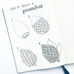 2,683 vind-ik-leuks, 36 reacties - Liz • Bullet Journal (@bonjournal_) op Instagram: 'Apologies for the late post... here is a pinecone tutorial just in time for the fall weather! Did…'