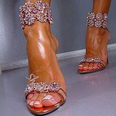Sandali vestito un strass fiori Shoespie Luxious