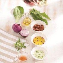 Tupperware - Salada de Folhas com Molho de Iogurte de Ervas e mostarda