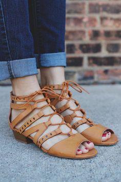 2b075feec3918a Camel Strappy Gladiator Inspired Heel Sandal Aloe-14x – UOIOnline.com   Women s Clothing