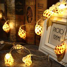 10 LED Warmeweiß Lichterkette Meeresmuschel Batteriebetrieben Innen Dekoration
