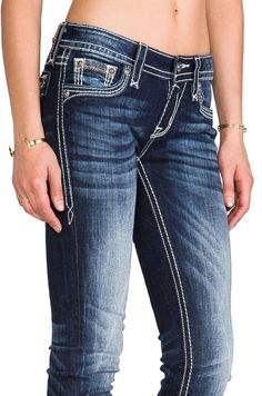 RN 2311 New Rock Revival Posey Skinny Distressed Wash Size 28 Jeans Womens | eBay
