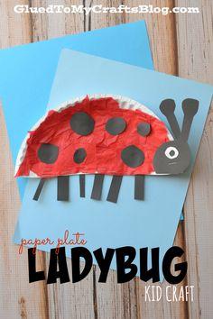 Paper Plate Ladybug {Kid Craft}