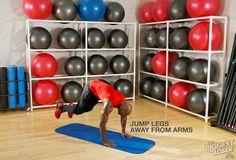 Step 4: Jump legs away from arms. #DolvettsBurpee #BiggestLoser