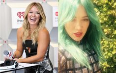 Stars love to switch up their look. From major dye jobs to cool cuts, these are the best hair makeovers of Celebrity Hairstyles, Cool Hairstyles, Hilary Duff, The Duff, Celebs, T Shirts For Women, Fashion, Celebrities, Moda
