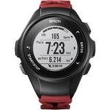 Epson - ProSense 57 GPS Heart Rate Monitor Watch - Red